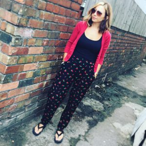 Carrie cherry trousers
