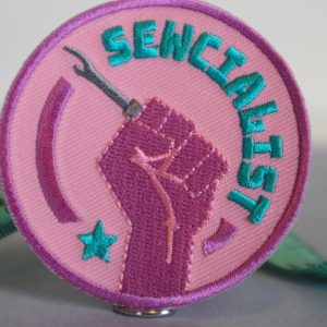 Sewing patch sewcialist embroidered patch close up